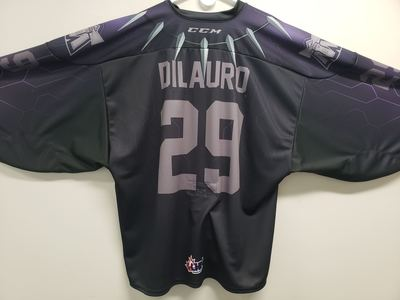 #29 Justin DiLauro Game Issued Superhero Jersey