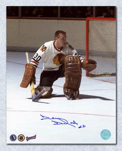 Denis Dejordy Chicago Blackhawks Autographed Hockey Goalie 8x10 Photo