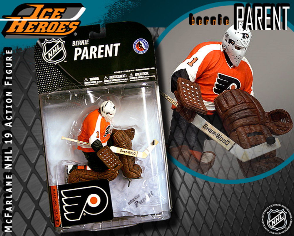 BERNIE PARENT McFarlane Series 19 Action Figure - MIB - Philadelphia Flyers