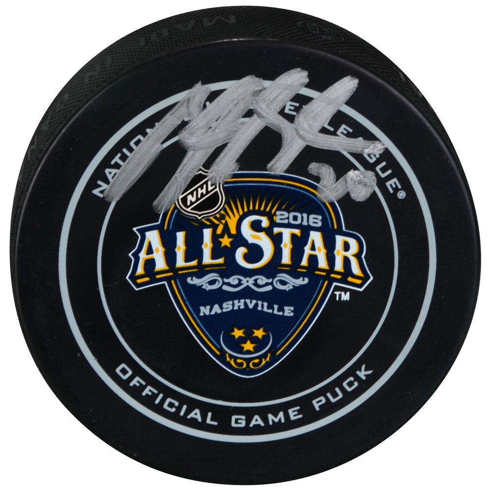 Brandon Saad Columbus Blue Jackets Autographed 2016 NHL All-Star Game Official Game Puck