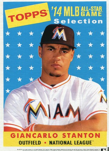 Photo of 2014 Topps 5x7 All-Star Selection Giancarlo Stanton -- Part of exclusive Minneapolis FanFest set