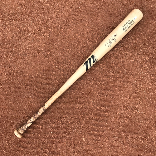 Photo of San Francisco Giants - Player Collected and Autographed Bat - Buster Posey