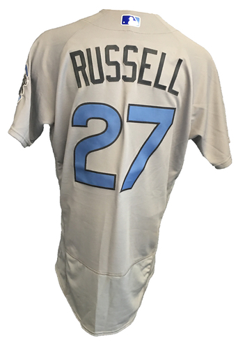 Photo of Addison Russell Game-Used Father's Day Jersey -- Cubs vs Pirates -- 2 for 4 w/ 6th HR of the Season -- 6/17/17