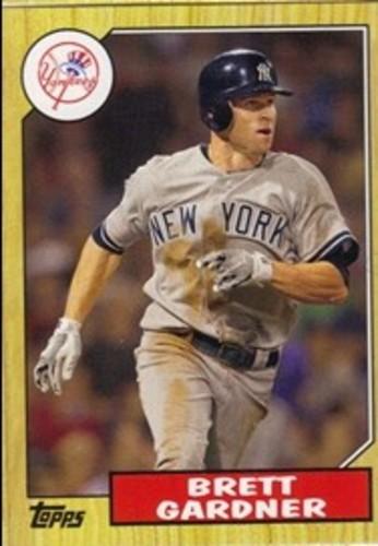 Photo of 2012 Topps 1987 Topps Minis #TM22 Brett Gardner -- Yankees post-season
