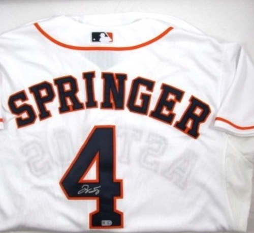 George Springer Autographed Authentic Home Houston Astros Jersey (Presale)