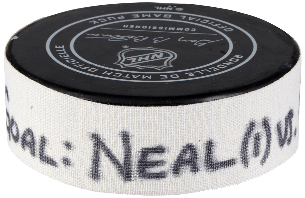 James Neal Vegas Golden Knights Pacific Division 2018 NHL All-Star Game Goal Puck vs. Central Division - First Golden Knights Goal in All-Star Game History, First Goal of Two Goals Scored