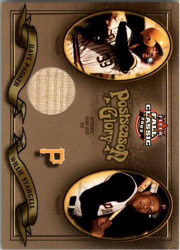 Photo of 2003 Fleer Fall Classics Postseason Glory Single Swatch #DP Dave Parker Bat w/Stargell