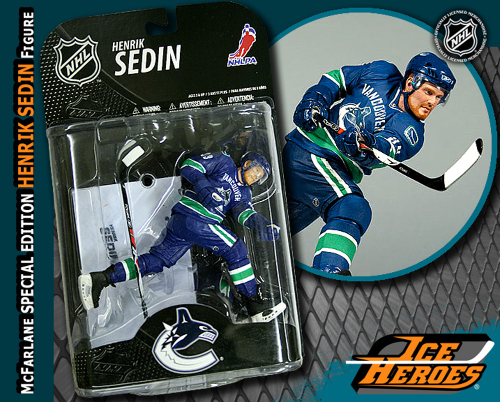 HENRIK SEDIN McFarlane Special Edition Action Figure - MIB - Vancouver Canucks