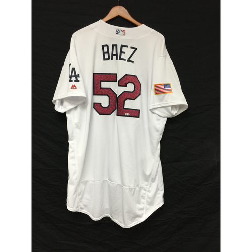 Photo of Pedro Baez Game-Used 4th of July Jersey