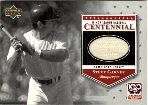 Photo of 2001 Upper Deck Minors Centennial Game Jersey #JSG Steve Garvey