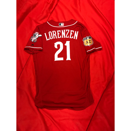 Photo of Michael Lorenzen -- Team-Issued Jersey -- 2017 Spring Training