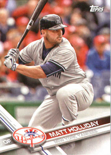 Photo of 2017 Yankees Topps #NYY3 Matt Holliday