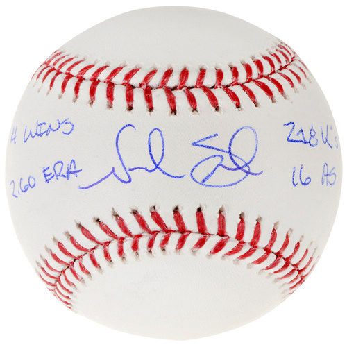 Photo of Noah Syndergaard New York Mets Autographed Baseball with Multiple Inscriptions. #1 In a Limited Edition of 34