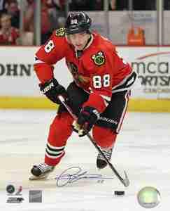 Patrick Kane - Signed 8X10 Chicago Blackhawks Red Action Photo