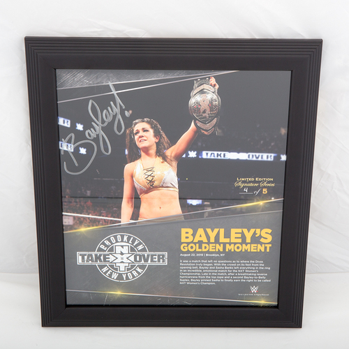 Photo of Bayley SIGNED NXT TakeOver: Brooklyn Commemorative Plaque (#4 of 5)