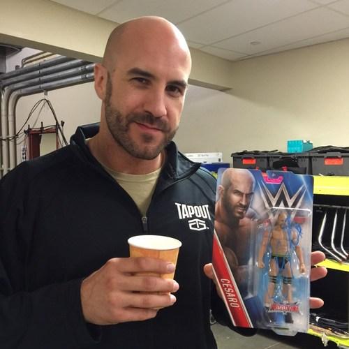 Photo of Cesaro SIGNED WrestleMania Series Figure