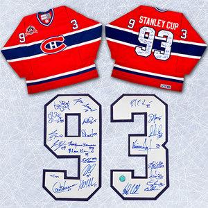 1993 Montreal Canadiens Team Signed Stanley Cup Jersey Le #/193 - 21 Autographs *Patrick Roy, Guy Carbonneau, Vincent Damphousse, etc*