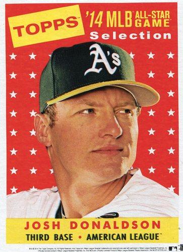 Photo of 2014 Topps 5x7 All-Star Selection Josh Donaldson -- Part of exclusive Minneapolis FanFest set