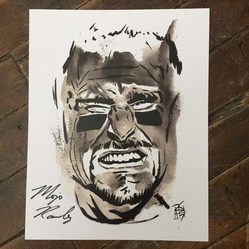 Photo of Mojo Rawley SIGNED 11 x 14 Rob Schamberger Print