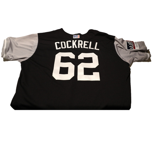 "Photo of Alan ""Cockrell"" Cockrell New York Yankees Game-Used Players Weekend Jersey"