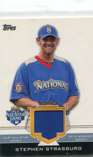 Photo of 2012 Topps Update All-Star Stitches #SS Stephen Strasburg -- Nationals post-season