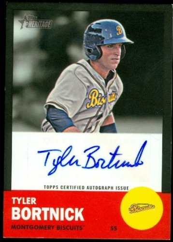 Photo of 2012 Topps Heritage Minors Real One Autographs Black #TB Tyler Bortnick