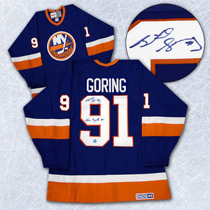 Butch Goring New York Islanders Autographed Retro CCM Conn Sythe Cup Jersey