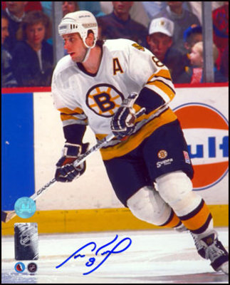 CAM NEELY Boston Bruins SIGNED 8x10 Game Action Photo