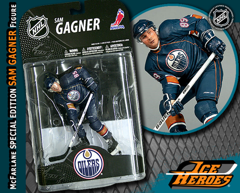 SAM GAGNER McFarlane Special Edition Action Figure - MIB - Edmonton Oilers