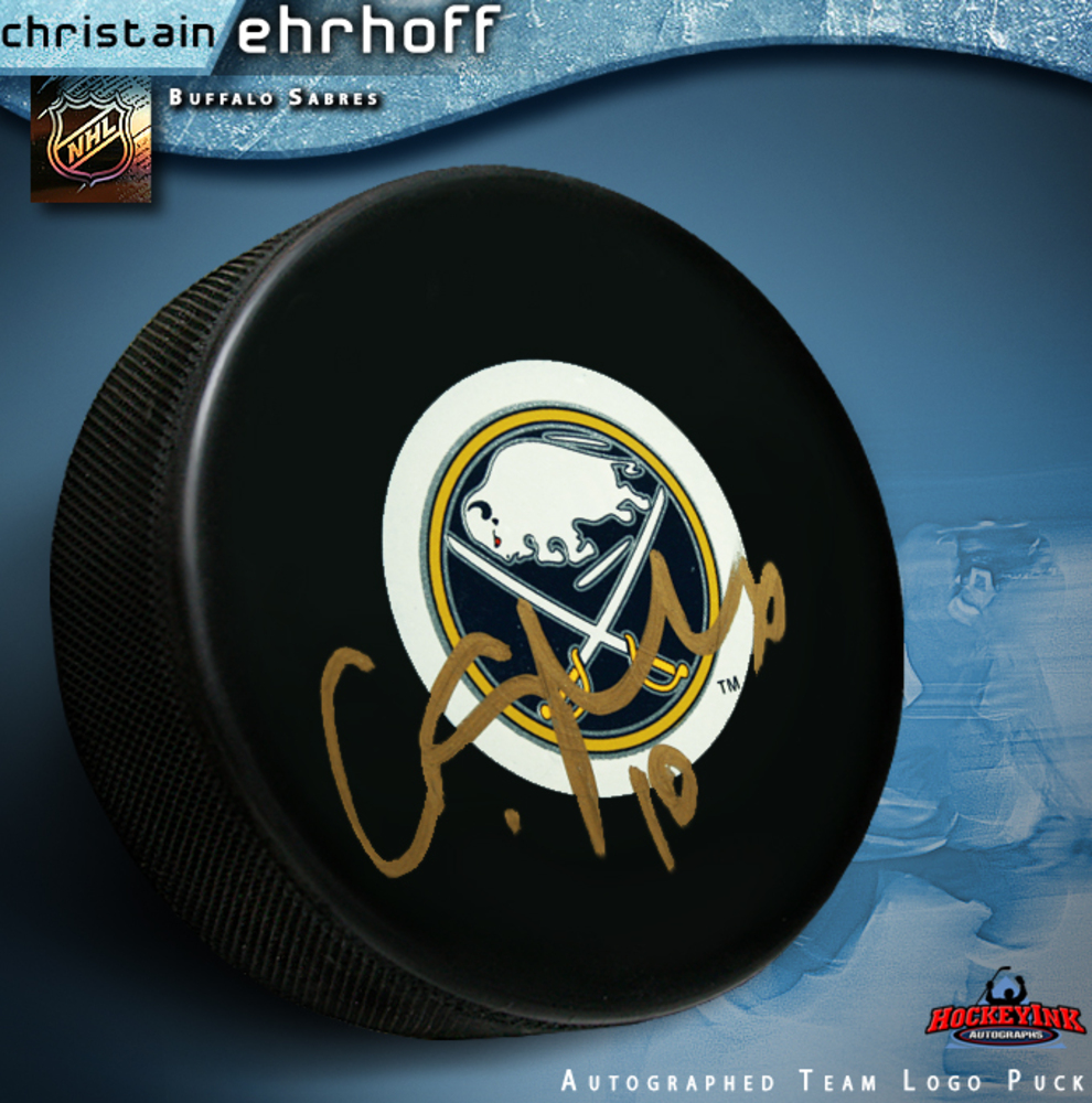 CHRISTIAN ERHOFF Signed Buffalo Sabres Puck