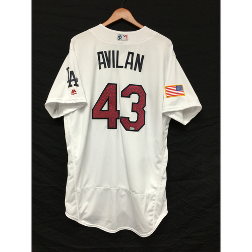 Photo of Luis Avilan Team-Issued 4th of July Jersey