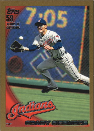 Photo of 2010 Topps Gold Border #625 Grady Sizemore