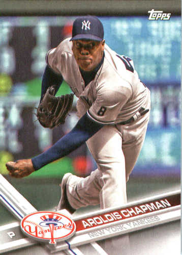 Photo of 2017 Yankees Topps #NYY9 Aroldis Chapman