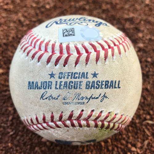 San Francisco Giants - August 7th, 2017 - Giants vs Chicago Cubs - Javier Baez Inside-the-Park Home Run Game-Used Baseball