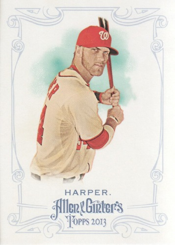 Photo of 2013 Topps Allen and Ginter #191 Bryce Harper -- Nationals post-season