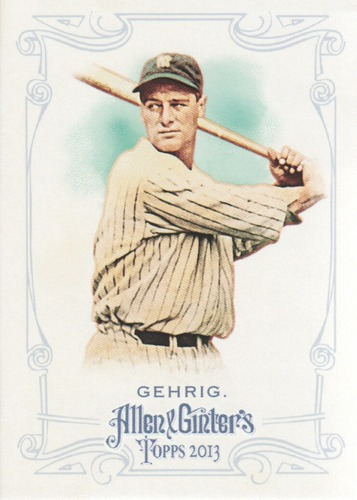 Photo of 2013 Topps Allen and Ginter #75 Lou Gehrig