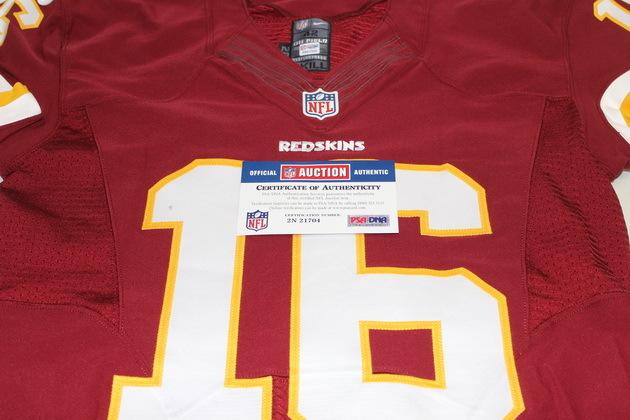 online store 8e7dc 036f9 NFL Auction   STS - REDSKINS COLT MCCOY GAME WORN REDSKINS ...