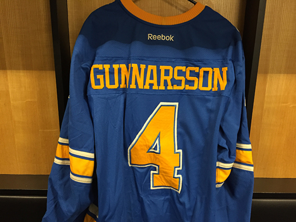Carl Gunnarsson Winter Classic Game-worn Jersey