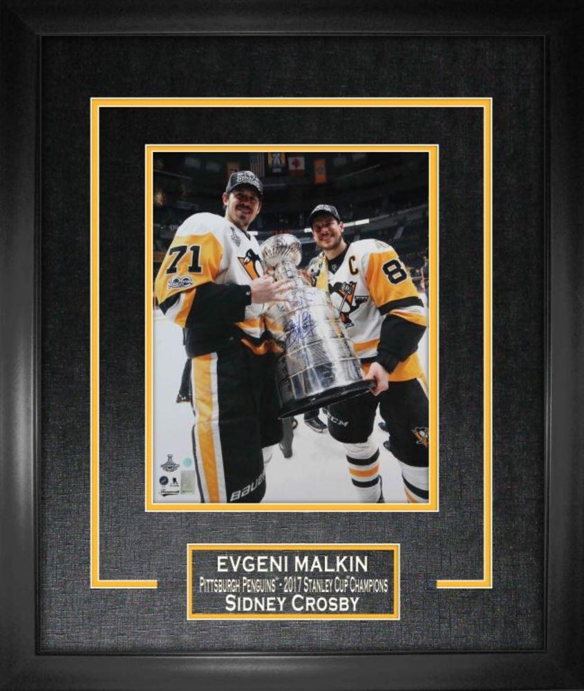 Sidney Crosby Amp Evgeni Malkin Dual Signed Amp Framed 16x20