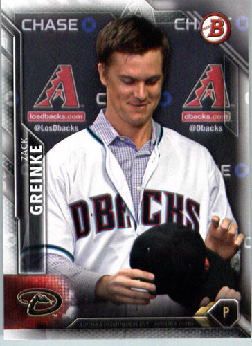 Photo of 2016 Bowman #45 Zack Greinke -- D'backs post-season