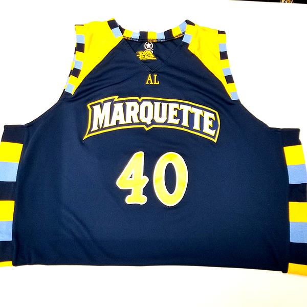 Photo of No. 40 Blue Marquette Jersey