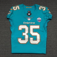 SPORT RELIEF - DOLPHINS WALT AIKENS GAME WORN DOLPHINS JERSEY W/ LONDON GAMES PATCH (OCTOBER 1, 2017) SIZE 38