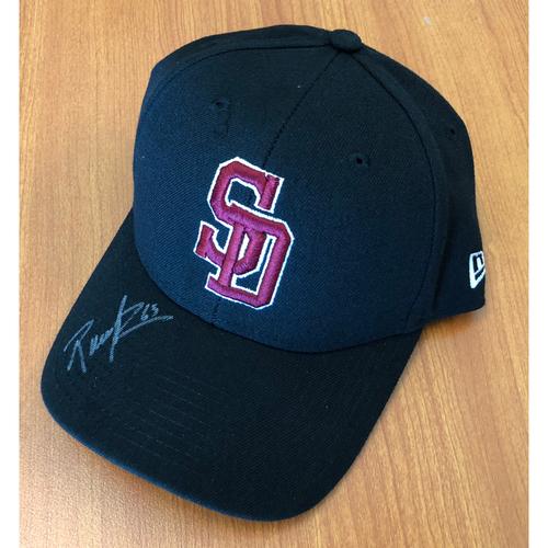 Photo of Rudy Hernandez Autographed, Game-Worn Stoneman Douglas Eagles Cap