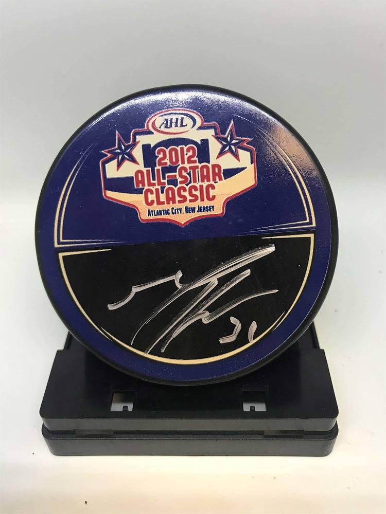 2012 AHL All-Star Classic Souvenir Puck Signed by #31 Matt Hackett