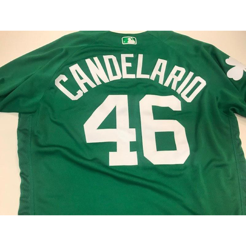 Photo of Game-Used St. Patrick's Day Jersey: Jeimer Candelario