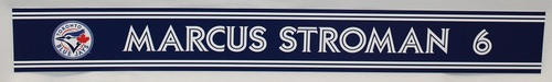 Photo of Authenticated Game Used 2018 Locker Name Plate - #6 Marcus Stroman