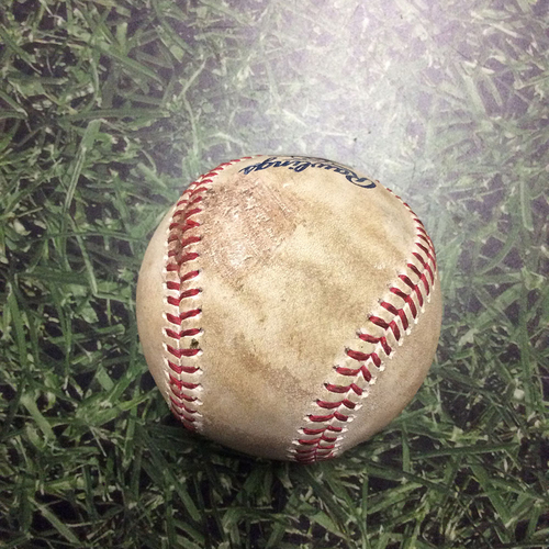 Photo of Game-Used Baseball PIT@MIL 05/05/18 - Josh Hader - Sean Rodriguez: Strikeout