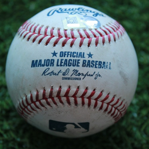 Game-Used Baseball: Ji-Man Choi 25th Career Double and 56th and 57th Career RBIs (TB @ KC - 4/29/19)