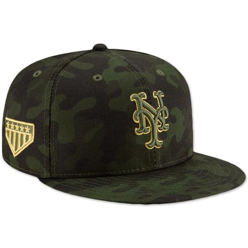 Photo of Tyler Bashlor #49 - Game Used Armed Forces Hat - 1.1 IP, 2 K's - Mets vs. Marlins - 5/18/19