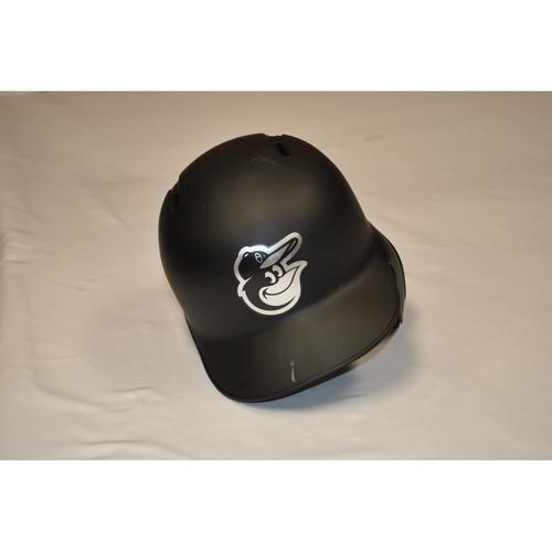 "Photo of Mark ""TRUM"" Trumbo Baltimore Orioles Team-Issued 2019 Players' Weekend Helmet"